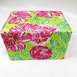 NWOT Lilly Pulitzer Pink green jewelry box